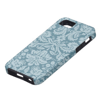 Vintage floral art nouveau blue green pattern tough iPhone 5 case