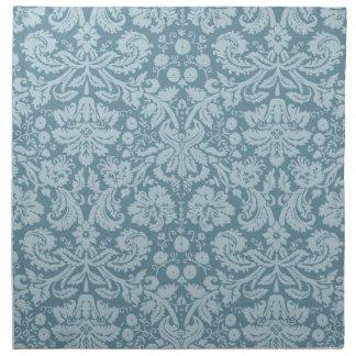 Vintage floral art nouveau blue green pattern cloth napkins