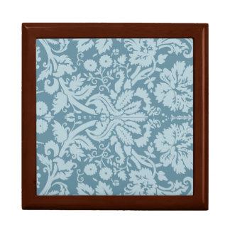 Vintage floral art nouveau blue green pattern gift box