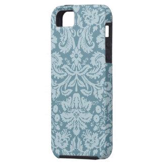 Vintage floral art nouveau blue green pattern iPhone 5 cases