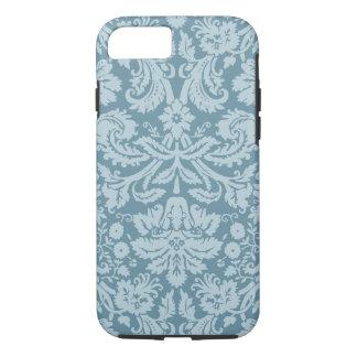 Vintage floral art nouveau blue green pattern iPhone 7 case