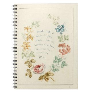 Vintage Floral Book Cover Notebook