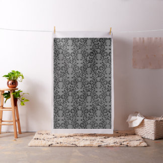 Vintage Floral Charcoal Pewter Fabric