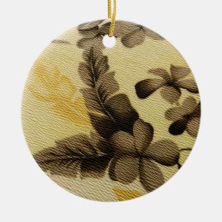 Vintage Floral Cloth Christmas Ornament