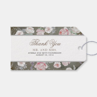 Vintage Floral Elegant Shabby Wedding Gift Tags