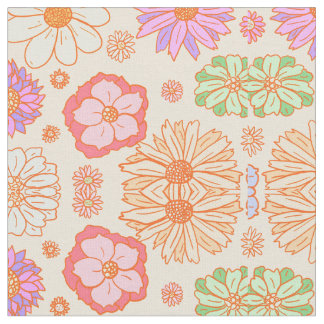 Vintage Floral Fabric 70's