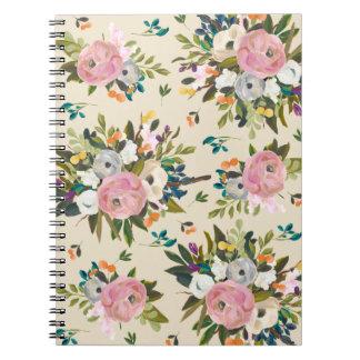 Vintage Floral Garden Notebook