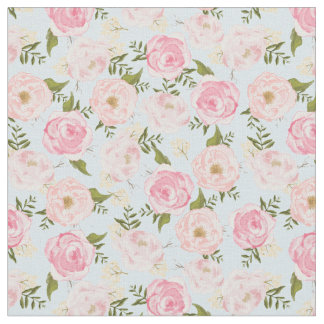 Vintage Floral Girly Flowers Gift Wrap Fabric