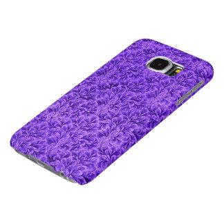 Vintage Floral Lace Leaf Amethyst Purple Samsung Galaxy S6 Cases