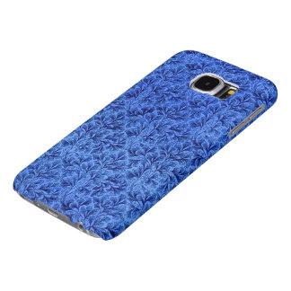 Vintage Floral Lace Leaf Sapphire Blue