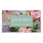 Vintage Floral Pattern Business Card