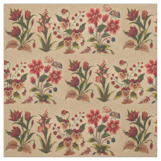 Vintage Floral Pattern Fabric