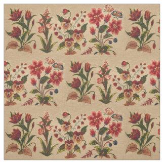 Vintage Floral Pattern Fabric