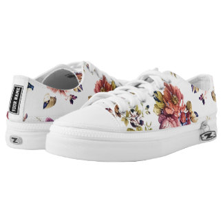 Vintage Floral Pattern Low Top Senakers