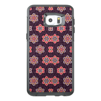 Vintage Floral Pattern Purple w/ Colorful Flowers