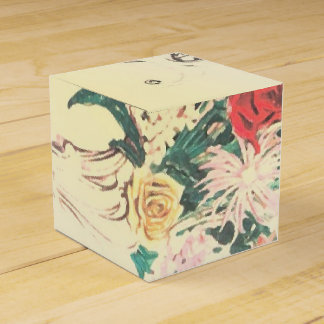 Vintage Floral Printed Wedding Favor Boxes Custom