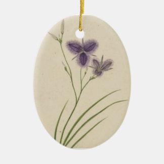 Vintage Floral Purple Ornament