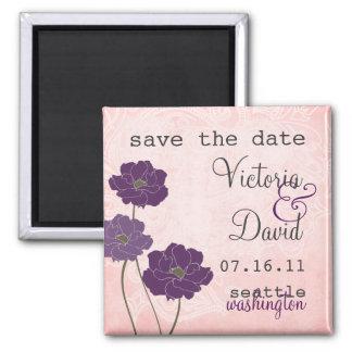 Vintage Floral Save the Date Magnet