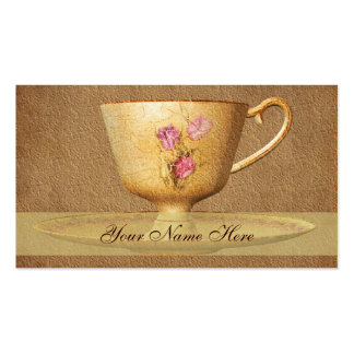 Vintage Floral Tea Cup Art Business Card