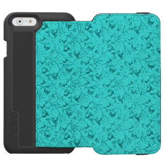 Vintage Floral Teal Peacock Incipio Watson™ iPhone 6 Wallet Case