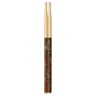 Vintage Floral Texture Abstract Drum Sticks