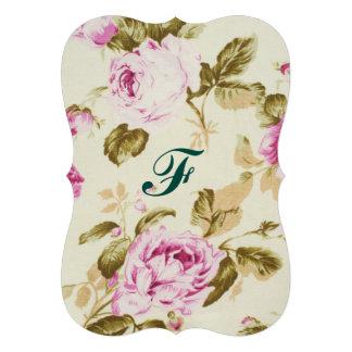 Vintage,floral,victorian,lavender,white,shabby chi card