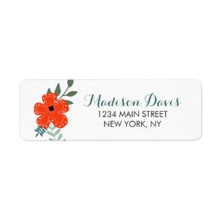 Vintage Floral Wedding Address Labels