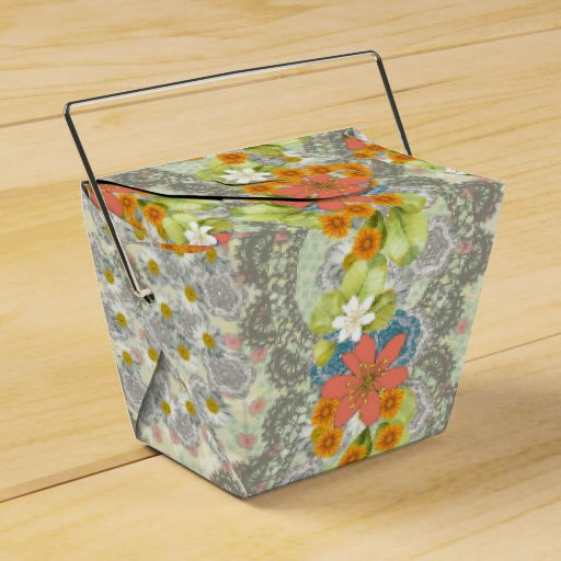 Vintage Floral Wedding Party Favour Boxes