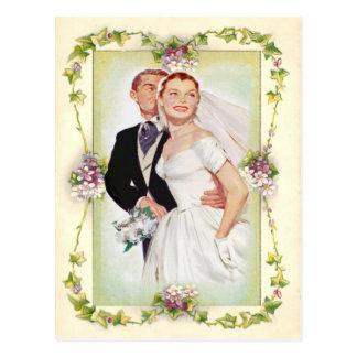 vintage floral, wedding invitation, post card