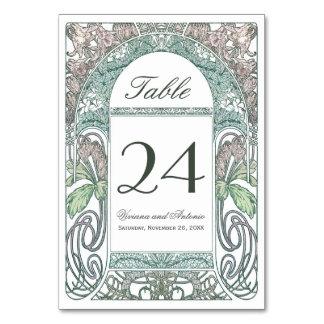 Vintage Floral Wedding Table Numbers IV (V.2) Table Card