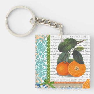 Vintage Florida Orange Fruit keychain
