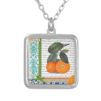 Vintage Florida Orange Fruit necklace