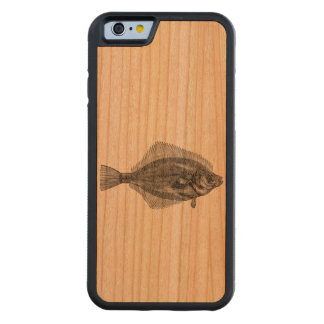 Vintage Flounder Fish Aquatic Customized Template Carved Cherry iPhone 6 Bumper Case