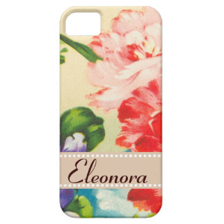 Vintage Flower Bouquet On Beige Case For The iPhone 5