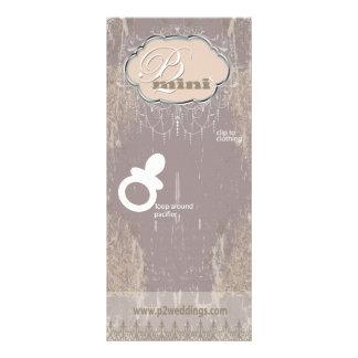 Vintage Flower Girl Pacifier Display Card Custom Rack Cards