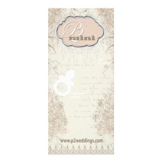 Vintage Flower Girl Pacifier Display Card Rack Card Template