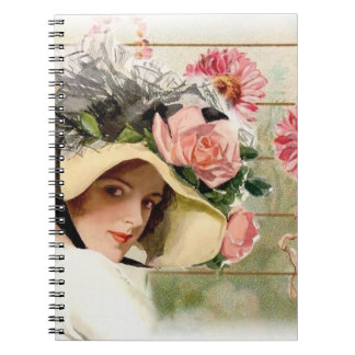 Vintage Flower Lady. Notebook
