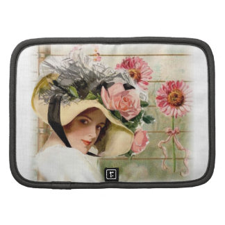 Vintage Flower Lady Planner