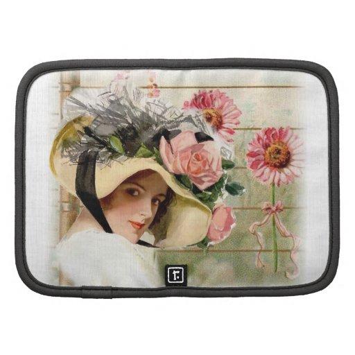 Vintage Flower Lady. Planner