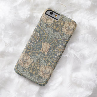 Vintage Flowers Art, Honeysuckle by William Morris Barely There iPhone 6 Case