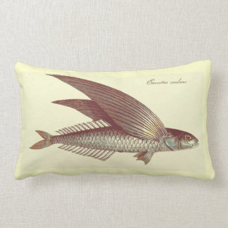 vintage flying fish pillow