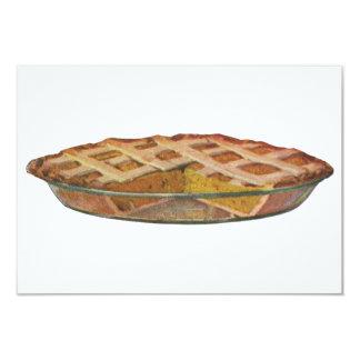 Vintage Foods, Dessert, Thanksgiving Pumpkin Pie 3.5x5 Paper Invitation Card