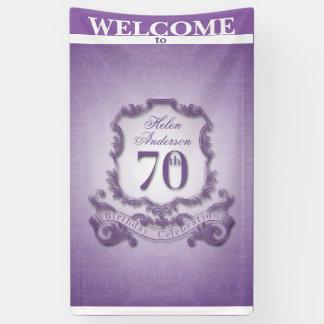 Vintage frame 70th Birthday celebration Banner