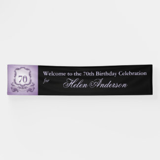 Vintage Frame 70th Birthday Personalized Banner