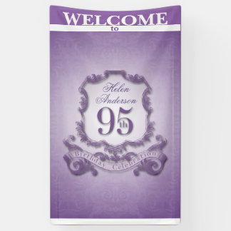 Vintage frame 95th Birthday celebration Banner