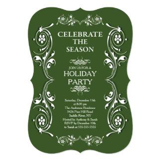 Vintage Frame Holiday Party Invitation