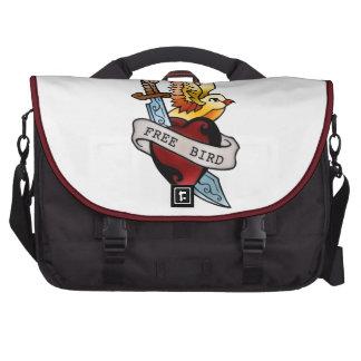 vintage free bird tattoo bag for laptop