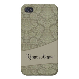 Vintage French background iPhone 4 Covers