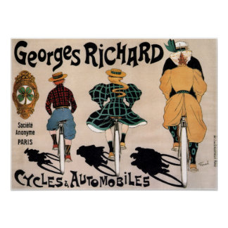 Vintage French Bicycle Advertisement Poster