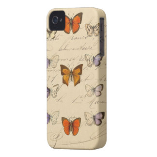 Vintage French Chic Butterfly Pattern Case-Mate iPhone 4 Cases